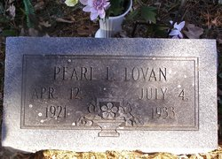Pearl Lillian Lovan