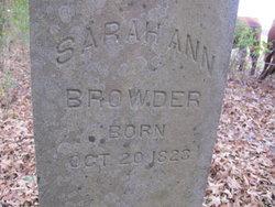 Sarah Ann <i>Deatherage</i> Browder