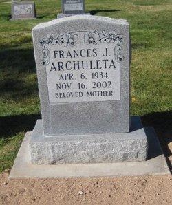 Frances J <i>Sisneros</i> Archuleta