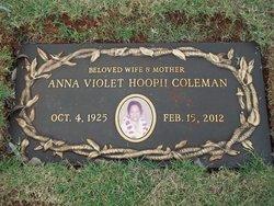 Anna Violet <i>Hoopii</i> Coleman
