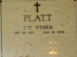 Joy <i>Weber</i> Platt