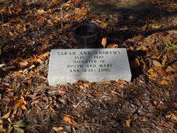 Sarah Ann <i>Long</i> Andrews