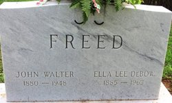 Ella Lee <i>DeBow</i> Freed