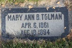 Mary Ann <i>Briggs</i> Tolman
