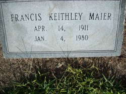 Frances Virginia <i>Keithley</i> Maier