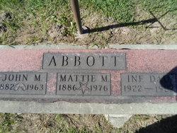 Martha Magdalena Mattie <i>Anderegg</i> Abbott