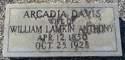 Arcadia <i>Davis</i> Anthony