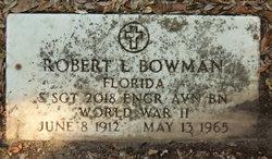 Sgt Robert L Bowman