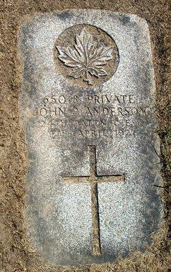 Pvt John P. Anderson