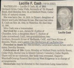 Lucille F. <i>Kruse</i> Cash