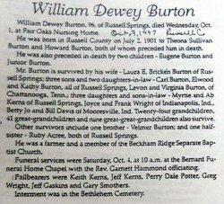 Dewey William Burton