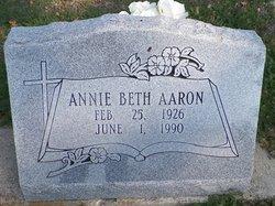 Annie Beth <i>Owens</i> Aaron