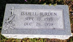 Minnie Isabell <i>Riney</i> Burden