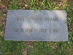 Lucy <i>Tucker</i> Adams