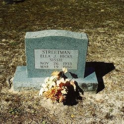 Ella Jean Sissie <i>Streetman</i> Hicks