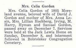 Celia Gordon