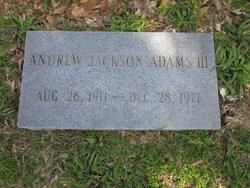Andrew Jackson Adams, III
