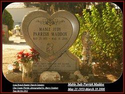 Mable Judy <i>Parrish</i> Maddox