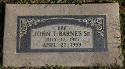 John T Barnes, Sr