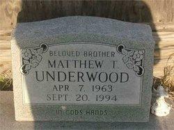 Mathew T Matt Underwood