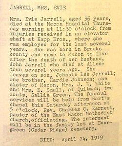 Evie <i>Johnson</i> Jarrell