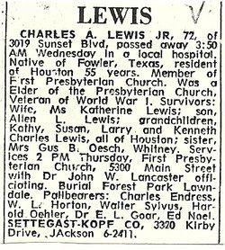 Charles Allen Lewis