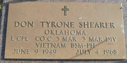 LCpl Don Tyrone Shearer