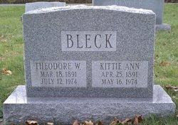 Catherine Ann Kittie <i>Dubbs</i> Bleck