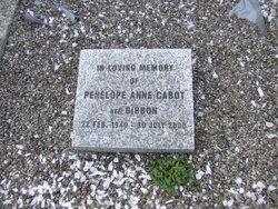 Penelope Anne <i>Gibbon</i> Cabot