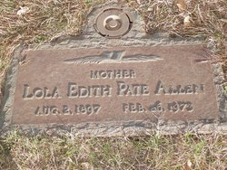 Lola Edith <i>Pate</i> Allen