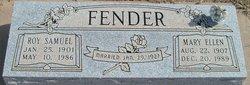 Mary E <i>Purcival</i> Fender