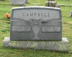 Mrs Virginia Ella Virgie <i>Mills</i> Campbell