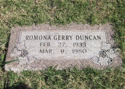 Ramona Geraldine 'Gerry' <i>McCraw</i> Duncan