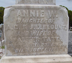 Annie Washington <i>Blount</i> Tate
