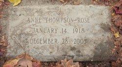 Anne <i>Thompson</i> Rose