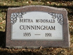 Bertha Lucille <i>McDonald</i> Cunningham