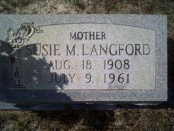 Susie M <i>Gunn</i> Langford