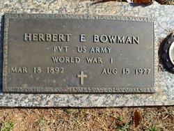 Herbert Elmer Bowman