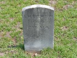 Pvt A. M. Brewton