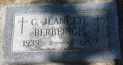 Clara Jeanette Jean <i>Muller</i> Berberich
