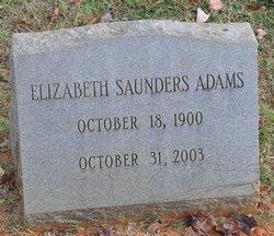 Elizabeth Saunders Adams