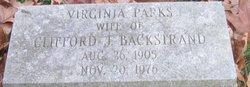 Virginia <i>Parks</i> Backstrand