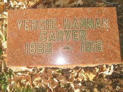 Virgie Jeanette Vergie <i>Hannan</i> Carver