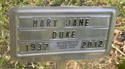 Mary Jane Janie <i>Marts</i> Duke
