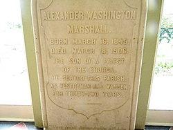 Sgt Maj Alexander Washington Marshall, Jr