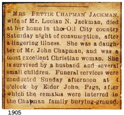 Almetie Bettie <i>Chapman</i> Jackman