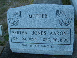 Bertha <i>Jones</i> Aaron