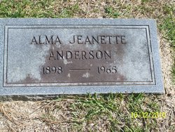Alma Jeanette <i>Carter</i> Anderson
