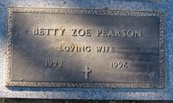 Betty Zoe <i>Smith</i> Pearson