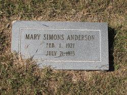 Mary <i>Simons</i> Anderson